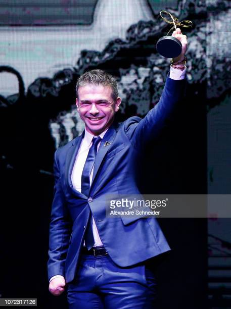 Rodolpho Riskalla paralympic athlete poses for photo after winning the best euqestrianinsm athlete during the Brazil Paralympics Awards Ceremony 2018...