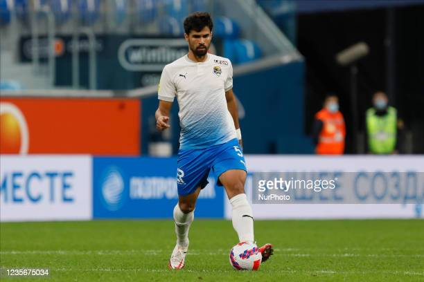Rodrigao of Sochi in action during the Russian Premier League match between FC Zenit Saint Petersburg and FC Sochi on October 3, 2021 at Gazprom...