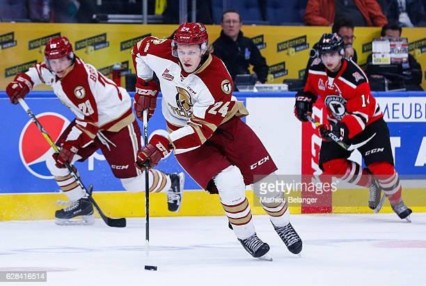 Rodrigo Abols of the Acadie-Bathurst Titan skates during his QMJHL hockey game at the Centre Videotron on November 9, 2016 in Quebec City, Quebec,...