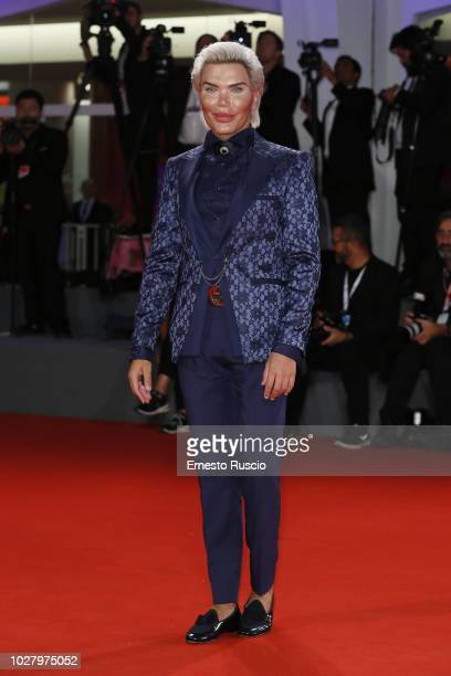 Rodrigo Alves attends 'Ying ' screening and 2018 JaegerLeCoultre Glory To The Filmaker Award to Zhang Yimou during the 75th Venice Film Festival at...