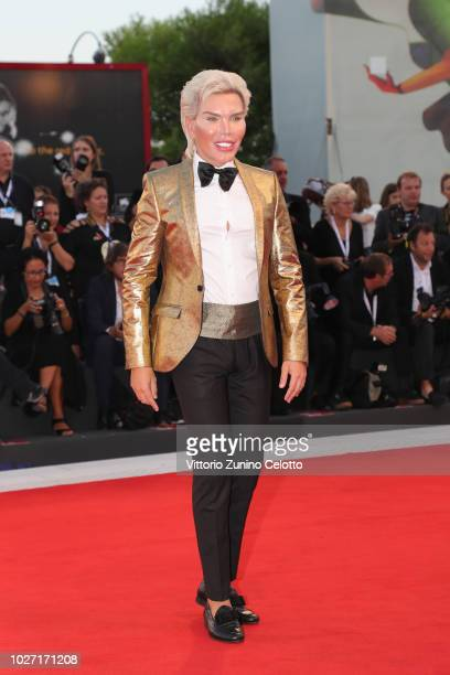 Rodrigo Alves walks the red carpet ahead of the '22 July' screening during the 75th Venice Film Festival at Sala Grande on September 5 2018 in Venice...