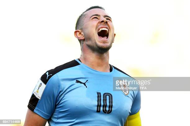 Rodrigo Amaral of Uruguay reacts after missing a shot on goal during the FIFA U20 World Cup Korea Republic 2017 3rd rank playoff match between...