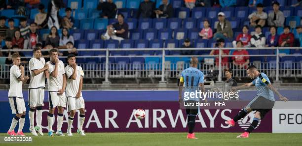 Rodrigo Amaral of Uruguay scores his teams first goal during the FIFA U20 World Cup Korea Republic 2017 group D match between Italy and Uruguay at...