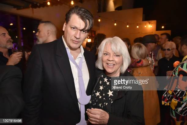 Rodrigo Basilicati Cardin and Cherry Vanilla attend the House Of Cardin Special Screening At Palm Springs Modernism Week at The Plaza Theater on...