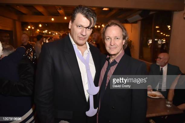 Rodrigo Basilicati Cardin and Matthew Gonder attend the House Of Cardin Special Screening At Palm Springs Modernism Week at The Plaza Theater on...