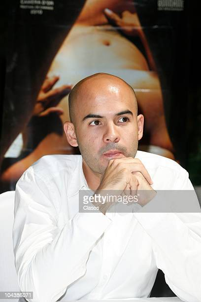 Rodrigo Bello poses for the camera during the presentation of the Mexican film Leap Year as part of the second international film festival in the...