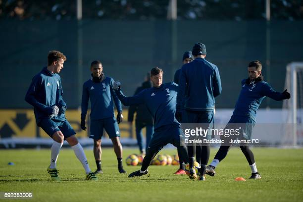 Rodrigo Bentancur and Miralem Pjanic during a Juventus Training Session at Juventus Center Vinovo on December 14 2017 in Vinovo Italy