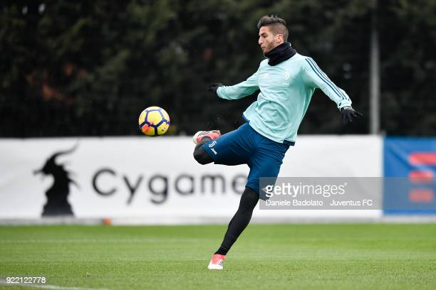 Rodrigo Bentancur at Juventus Center Vinovo on February 21 2018 in Vinovo Italy