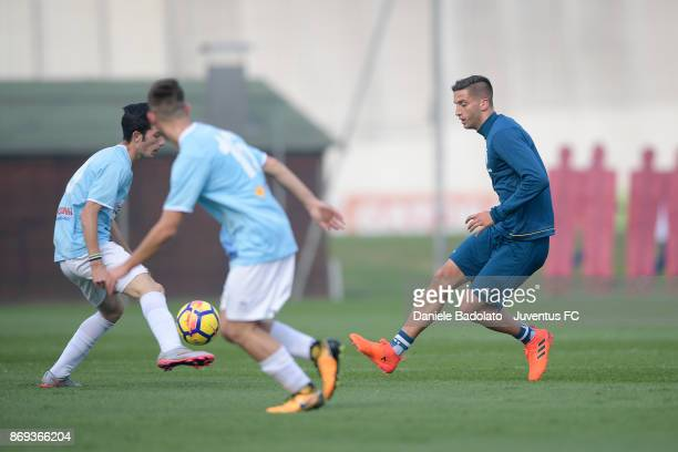 Rodrigo Bentancur during a Juventus training session at Juventus Center Vinovo on November 2 2017 in Vinovo Italy