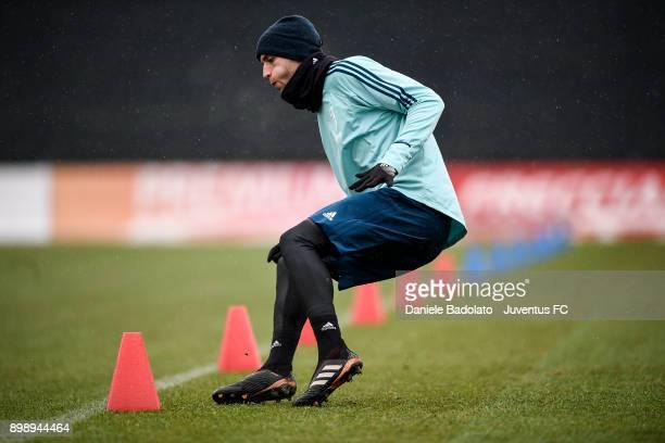 Rodrigo Bentancur during a Juventus Training Session at Juventus Center Vinovo on December 27 2017 in Vinovo Italy