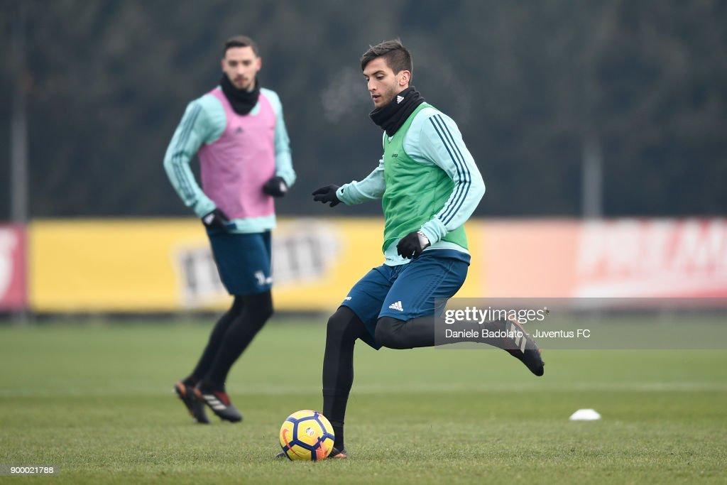 Rodrigo Bentancur during a Juventus Training Session at Juventus Center Vinovo on December 31, 2017 in Vinovo, Italy.