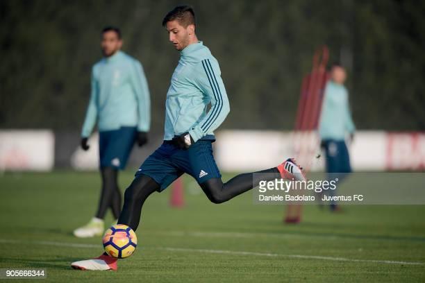Rodrigo Bentancur during a Juventus Training Session at Juventus Center Vinovo on January 16 2018 in Vinovo Italy