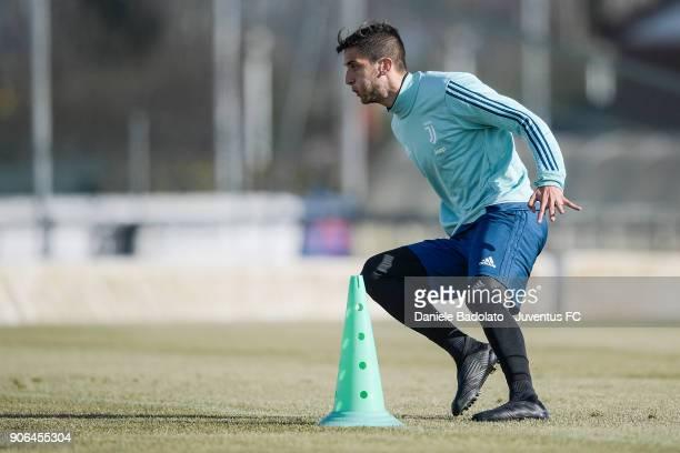 Rodrigo Bentancur during a Juventus Training Session at Juventus Center Vinovo on January 18 2018 in Vinovo Italy