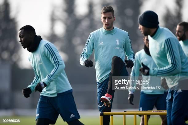 Rodrigo Bentancur during a Juventus Training Session at Juventus Center Vinovo on January 24 2018 in Vinovo Italy