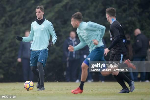 Rodrigo Bentancur during a Juventus training session at Juventus Center Vinovo on February 1 2018 in Vinovo Italy