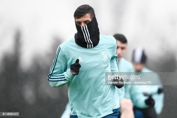 Rodrigo Bentancur during a Juventus Training Session at Juventus Center Vinovo on February 6 2018 in Vinovo Italy