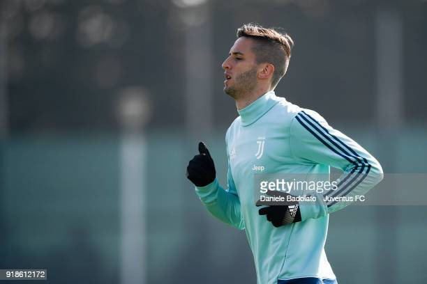 Rodrigo Bentancur during a Juventus training session at Juventus Center Vinovo on February 15 2018 in Vinovo Italy