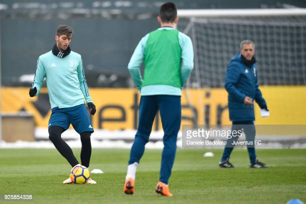 Rodrigo Bentancur during a Juventus training session at Juventus Center Vinovo on March 1 2018 in Vinovo Italy