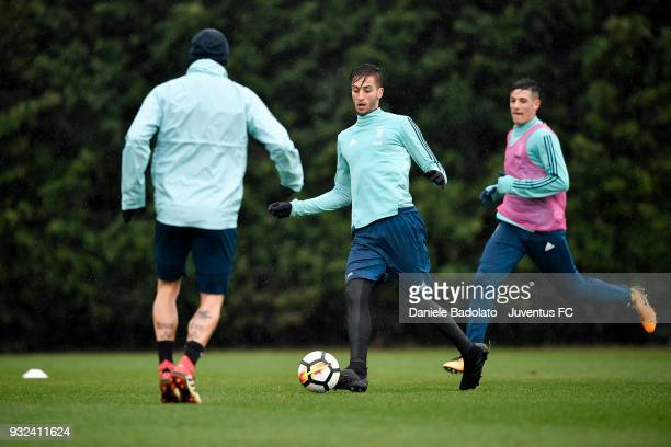 Rodrigo Bentancur during a Juventus training session at Juventus Center Vinovo on March 15 2018 in Vinovo Italy
