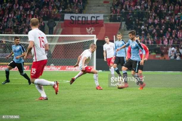 Rodrigo Bentancur during the international friendly soccer match between Poland and Uruguay at the PGE National Stadium in Warsaw Poland on 10...