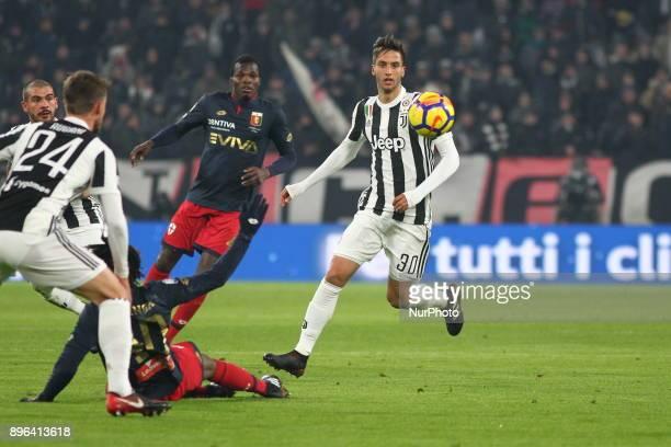Rodrigo Bentancur during the Italian Cup football match between Juventus FC and Geona CFC at Allianz Stadium on 20 December 2017 in Turin Italy...