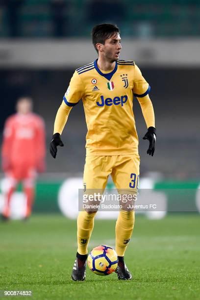 Rodrigo Bentancur during the serie A match between Hellas Verona FC and Juventus at Stadio Marc'Antonio Bentegodi on December 30 2017 in Verona Italy