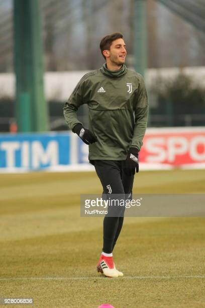 Rodrigo Bentancur during the training on the eve of the second leg of the Round 16 of the UEFA Champions League 2017/18 between Juventus FC and...