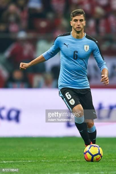 Rodrigo Bentancur from Uruguay controls the ball while Poland v Uruguay International Friendly soccer match at National Stadium on November 10 2017...