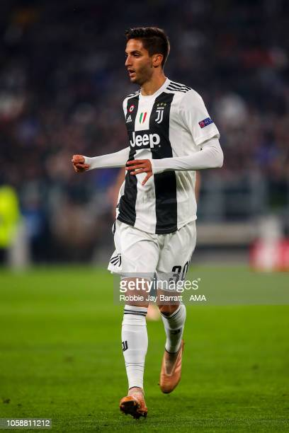 Rodrigo Bentancur of Juventus during the Group H match of the UEFA Champions League between Juventus and Manchester United at on November 7, 2018 in...