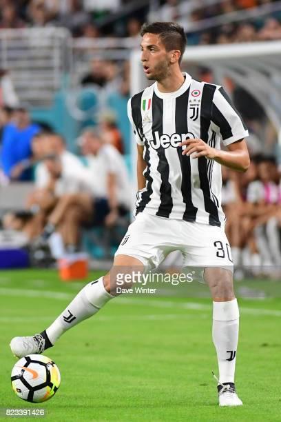 Rodrigo Bentancur of Juventus during the International Champions Cup match between Paris Saint Germain and Juventus Turin at Hard Rock Stadium on...