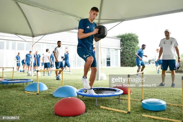 Rodrigo Bentancur of Juventus during the morining training session on July 11 2017 in Vinovo Italy