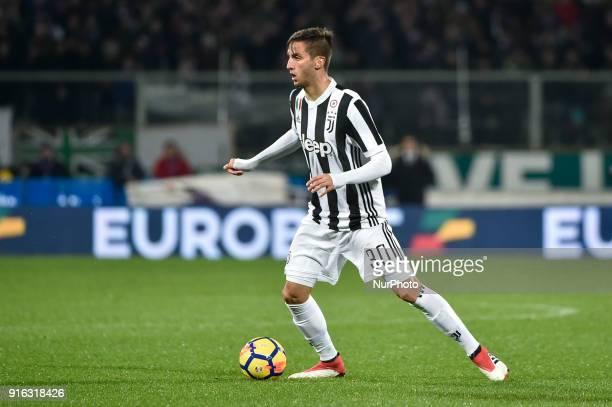 Rodrigo Bentancur of Juventus during the Serie A match between Fiorentina and Juventus at Stadio Artemio Franchi Florence Italy on 9 February 2018
