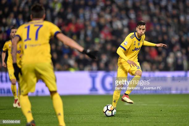 Rodrigo Bentancur of Juventus during the serie A match between Spal and Juventus at Stadio Paolo Mazza on March 17 2018 in Ferrara Italy
