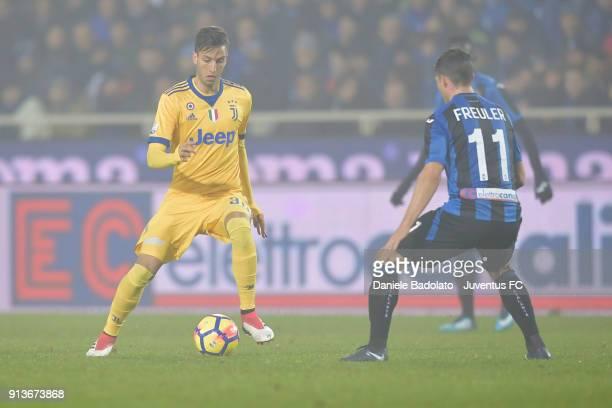 Rodrigo Bentancur of Juventus during the TIM Cup match between Atalanta BC and Juventus at Stadio Atleti Azzurri d'Italia on January 30 2018 in...