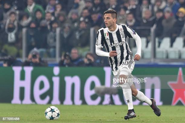 Rodrigo Bentancur of Juventus during the UEFA Champions League match between Juventus and Barcelona at the Juventus Stadium Turin Italy on 22...