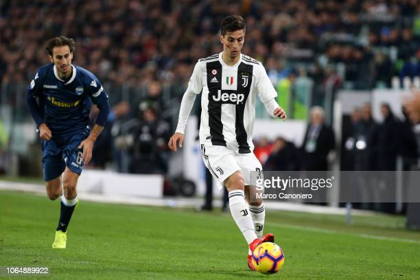 Rodrigo Bentancur of Juventus FC in action during the Serie A football match between Juventus Fc and Spal. Juventus FC wins 2-0 over Spal.