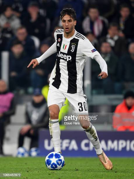Rodrigo Bentancur of Juventus in action during the Group H match of the UEFA Champions League between Juventus and Manchester United at Juventus...
