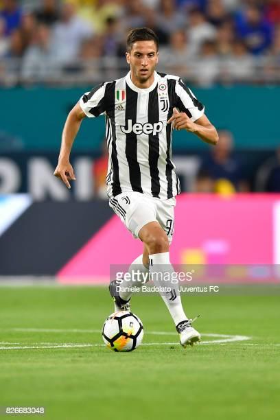 Rodrigo Bentancur of Juventus in action during the International Champions Cup 2017 match between Paris Saint Germain and Juventus at Hard Rock...