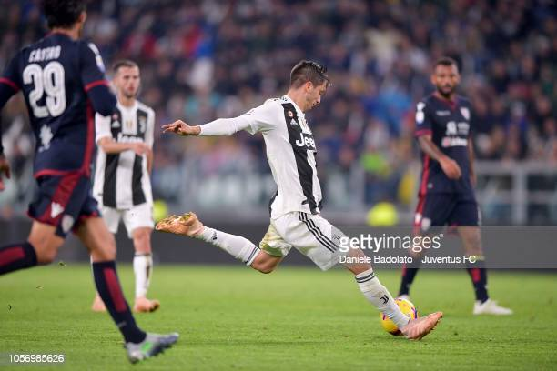 Rodrigo Bentancur of Juventus in action during the Serie A match between Juventus and Cagliari on November 3 2018 in Turin Italy