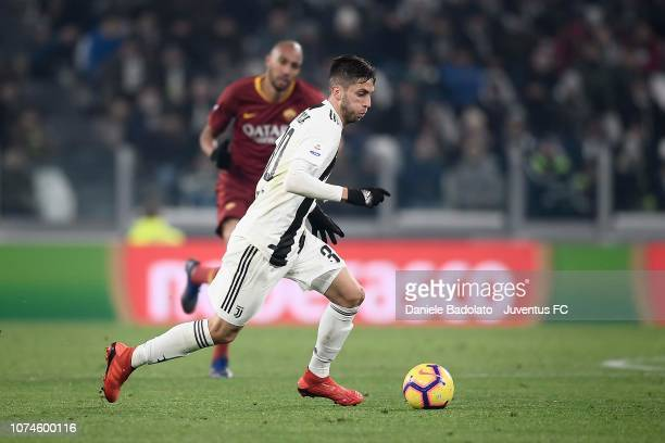 Rodrigo Bentancur of Juventus in action during the Serie A match between Juventus and AS Roma on December 22 2018 in Turin Italy