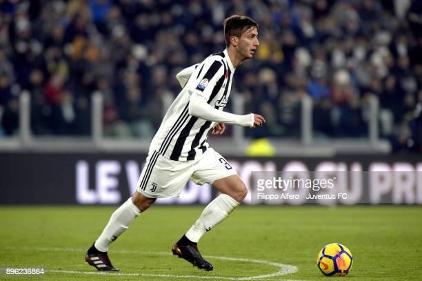 Rodrigo Bentancur of Juventus in action during the TIM Cup match between Juventus and Genoa CFC at Allianz Stadium on December 20 2017 in Turin Italy