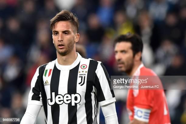 Rodrigo Bentancur of Juventus looks on during the serie A match between Juventus and UC Sampdoria at Allianz Stadium on April 15 2018 in Turin Italy
