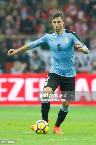 Rodrigo Bentancur of Uruguay during international friendly match between Poland and Uruguay at National Stadium on November 10 2017 in Warsaw Poland