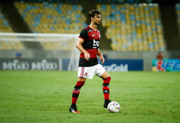 Rodrigo Caio of Flamengo controls the ball during a match between Flamengo and Potuguesa as part of the Rio State Championship 2020 to be played...