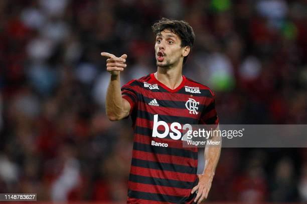 Rodrigo Caio of Flamengo reacts during a match between Fluminense and Flamengo as part of the Brasileirao Series A championship at Maracana Stadium...