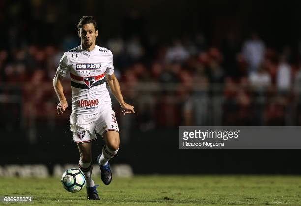 Rodrigo Caio of Sao Paulo on the ball during a match between Sao Paulo and Avai as a part of Campeonato Brasileiro 2017 at Morumbi Stadium on May 22...