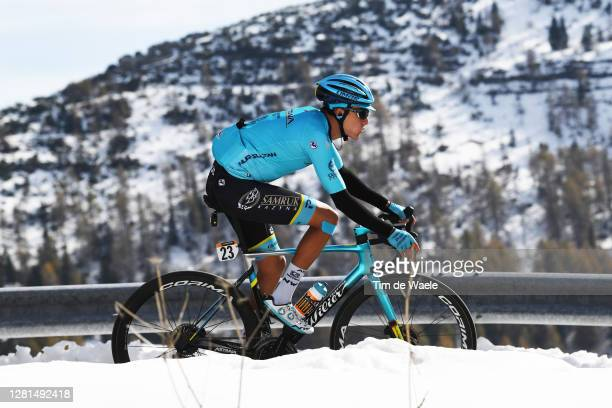 Rodrigo Contreras of Colombia and Astana Pro Team / Forcella Valbona / Snow / Mountains / during the 103rd Giro d'Italia 2020, Stage 17 a 203km stage...