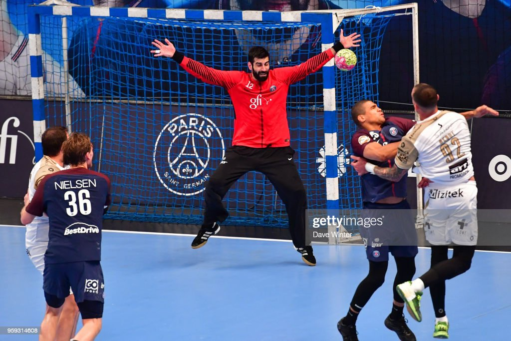 Rodrigo Corrales of PSG during the Lidl StarLigue match between Paris Saint Germain and Aix at Salle Pierre Coubertin on May 16, 2018 in Paris, France.