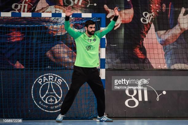 Rodrigo Corrales Rodal of Paris Saint Germain during the Lidl Starligue match between Paris Saint Germain and Pays d'Aix Universite Club at Stade...