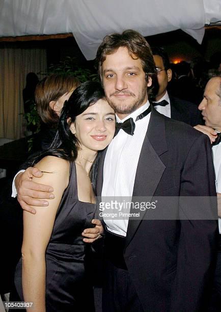 Rodrigo De La Serna and Erica Rivas during 2004 Cannes Film Festival 'Motorcycle Diaries' Party at La Plage Coste in Cannes France